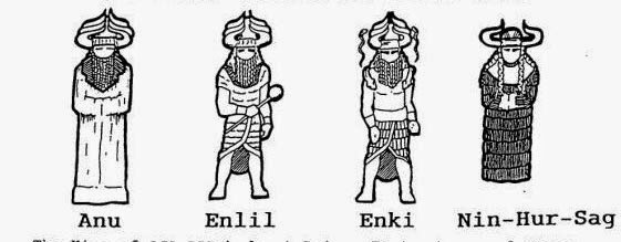 Anu Enlil Enki NinHurSag