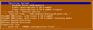 Super Grub2 Disk 2.01 beta 3 Everything menu making use of grub.cfg extract entries option functionality