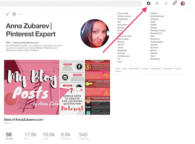 popular-Pinterest-topics