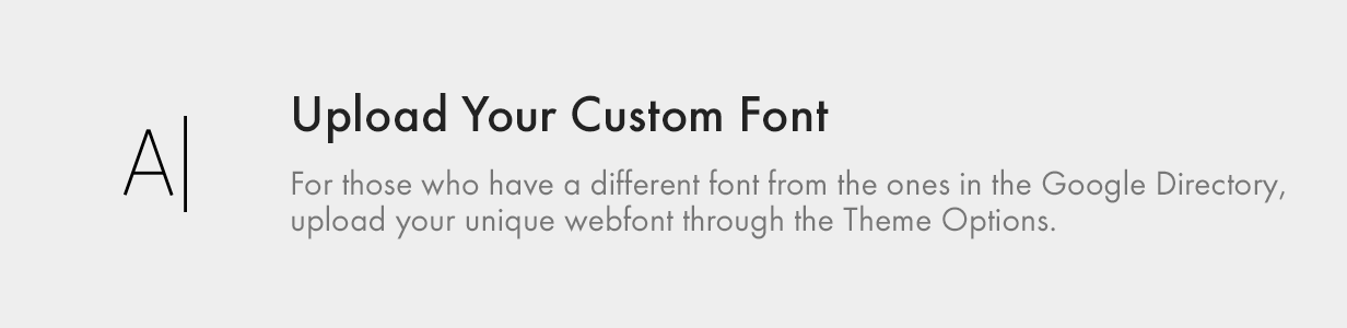 Upload your Custom Font