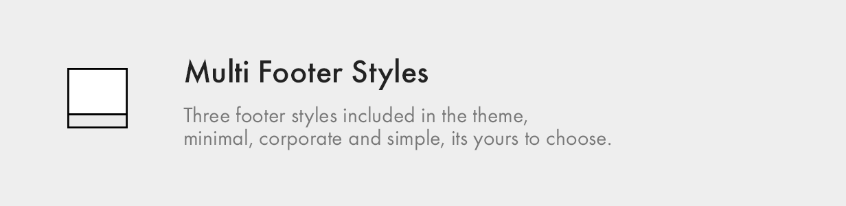 Multiple Footer Styles