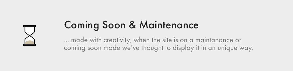 Coming Soon and Maintenance Pages