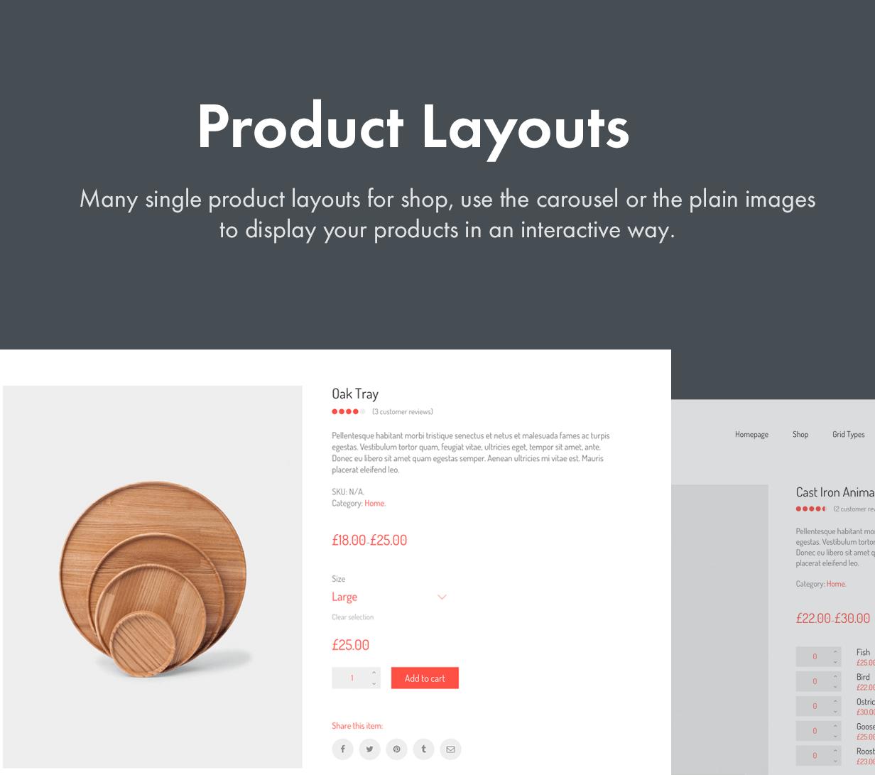 Many Product Layout Styles