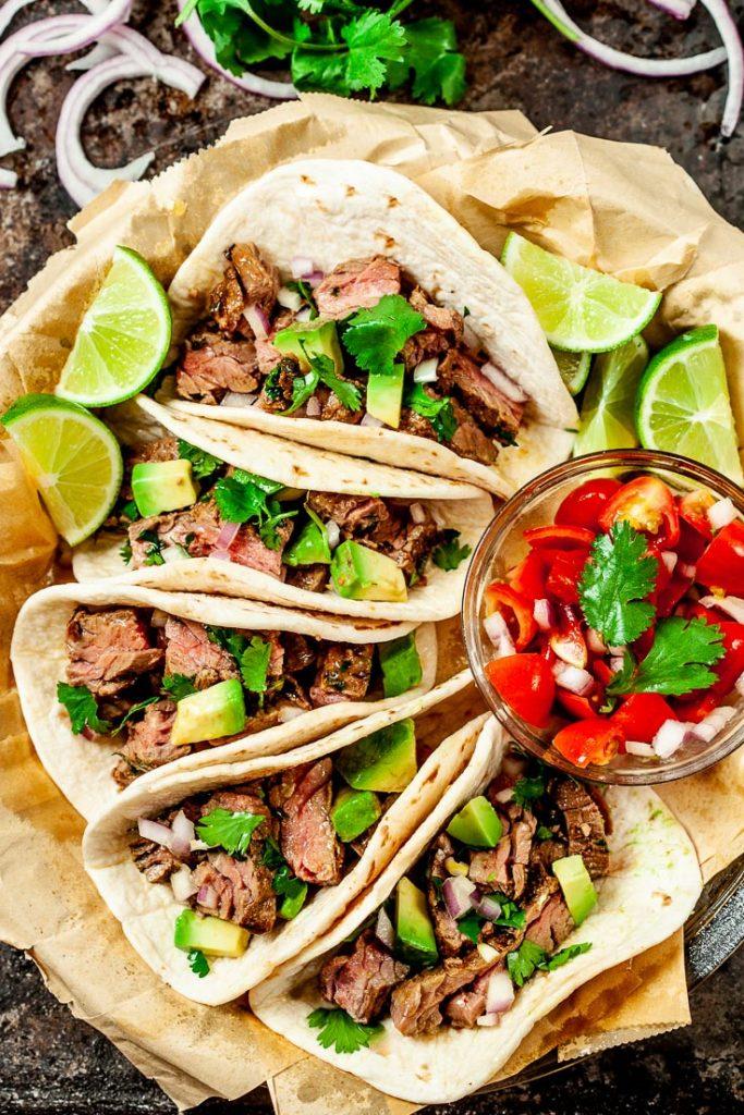 carne asada tacos, carne asada recipe, mexican beef tacos, beef tacos