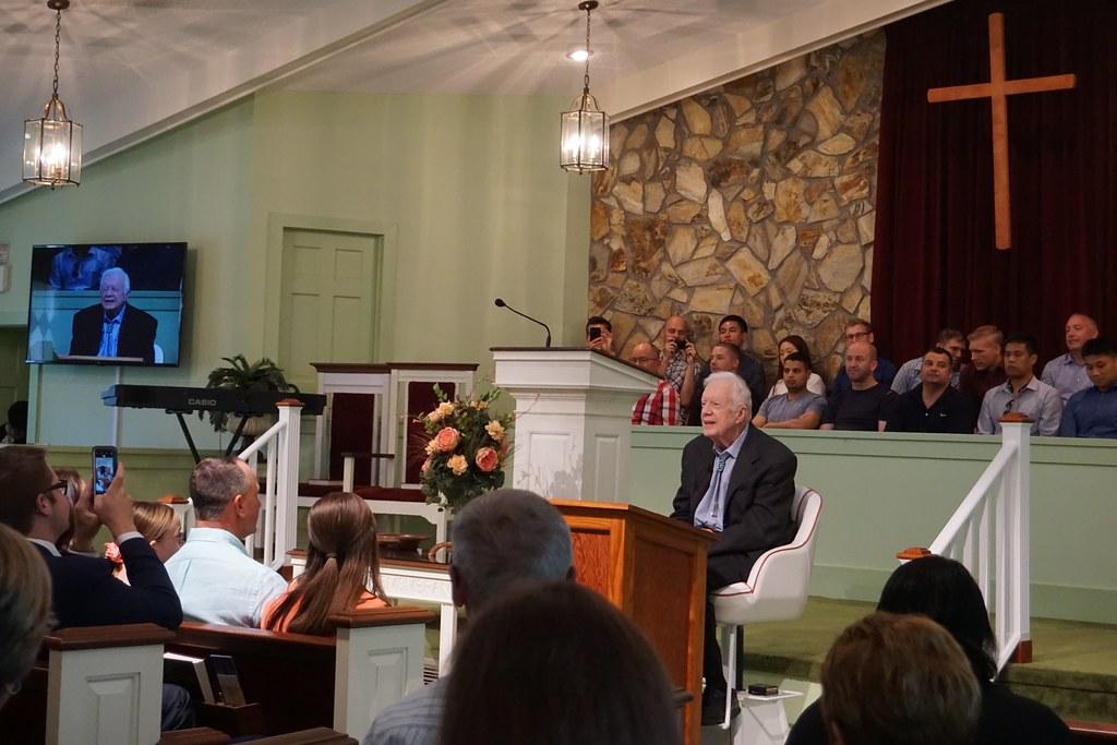 Sunday School with Jimmy Carter, Marantha Baptist Church, Plains, Ga., June 23, 2019