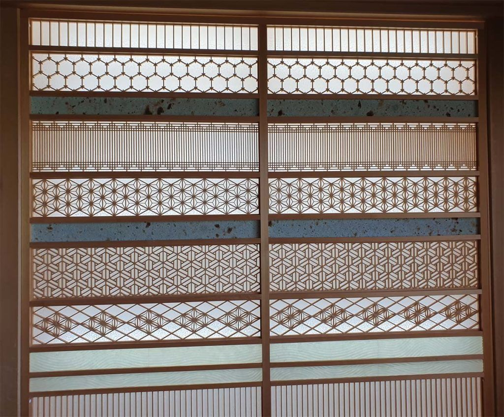 Example of Wood Latticework in Kai Nikko Lobby