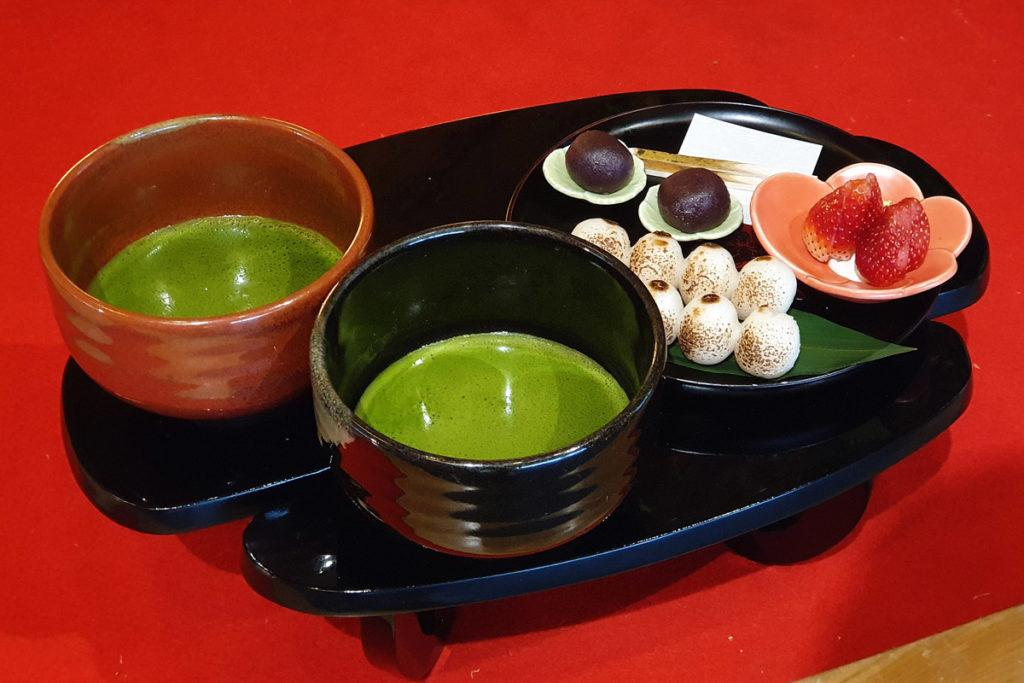 Chaya - Tochigi Strawberry Dumplings with Green Tea