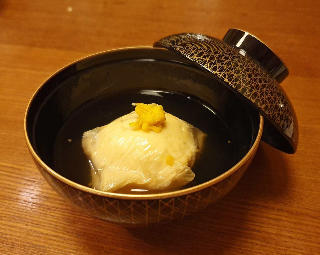 Scallop Dumpling wrapped in Yuba with Yuzu