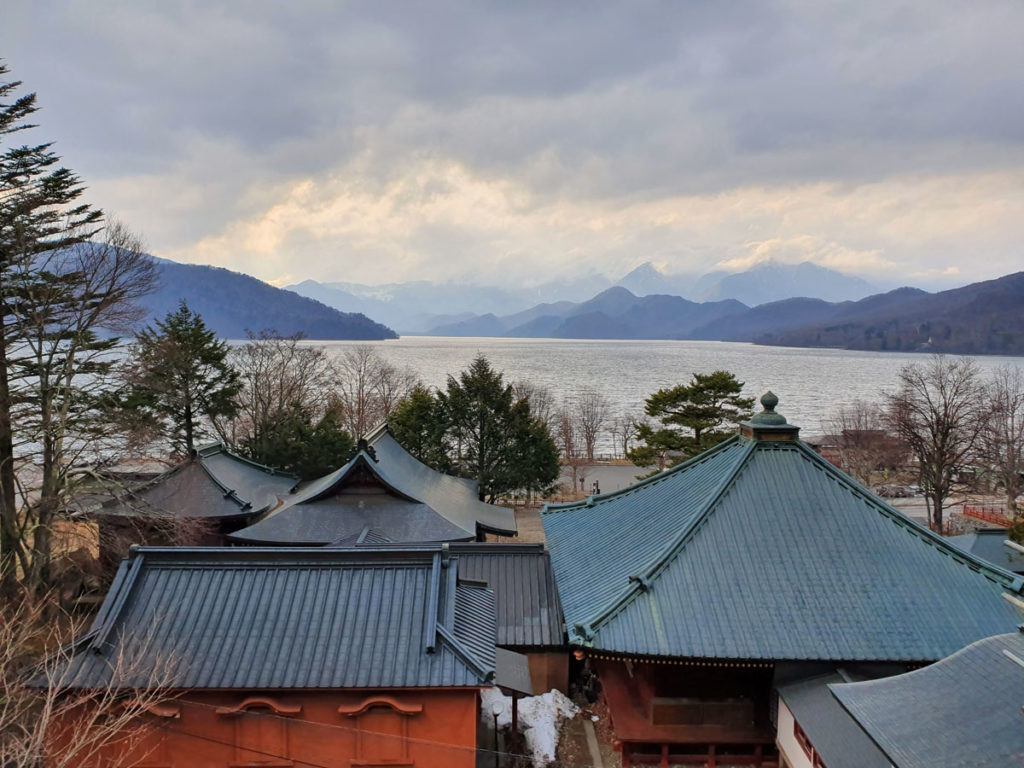View over Lake Chuzenji from Chuzenji Temple
