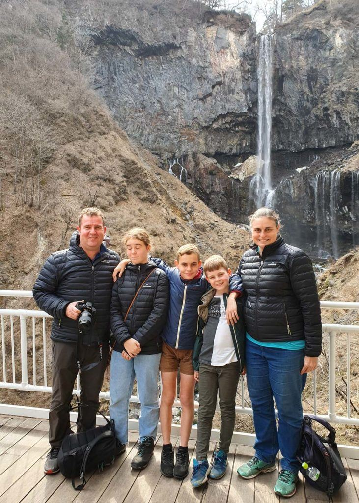 Family Photo at Kegon Falls