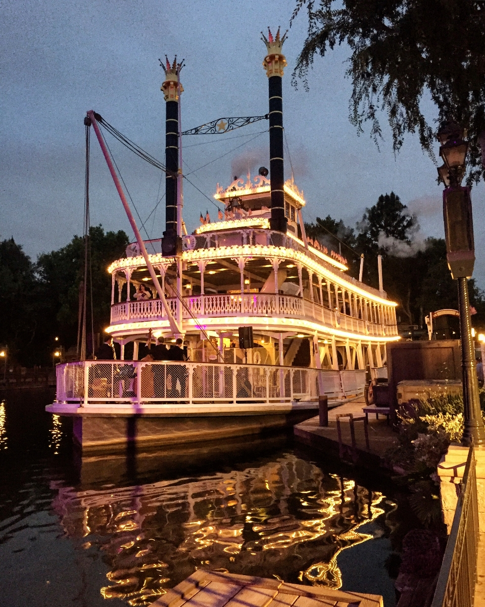 The Mark Twain boat in Disneyland gets you around without a car.