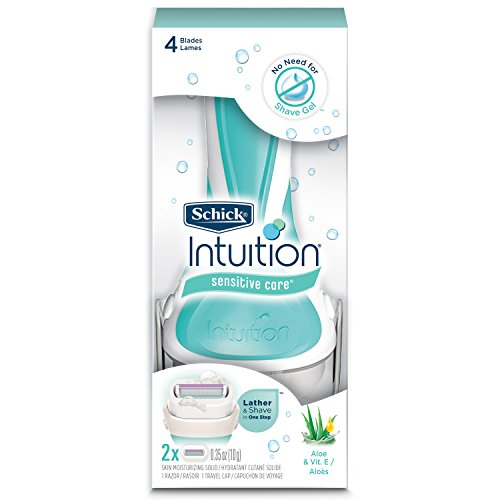 Schick Intuition Sensitive Care Razor for Women  with 2 Moisturizing Razor Blade Refills with...