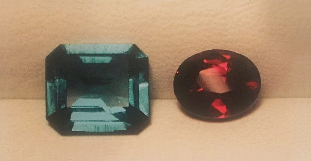 Emerald vs ruby size based oncarat weight