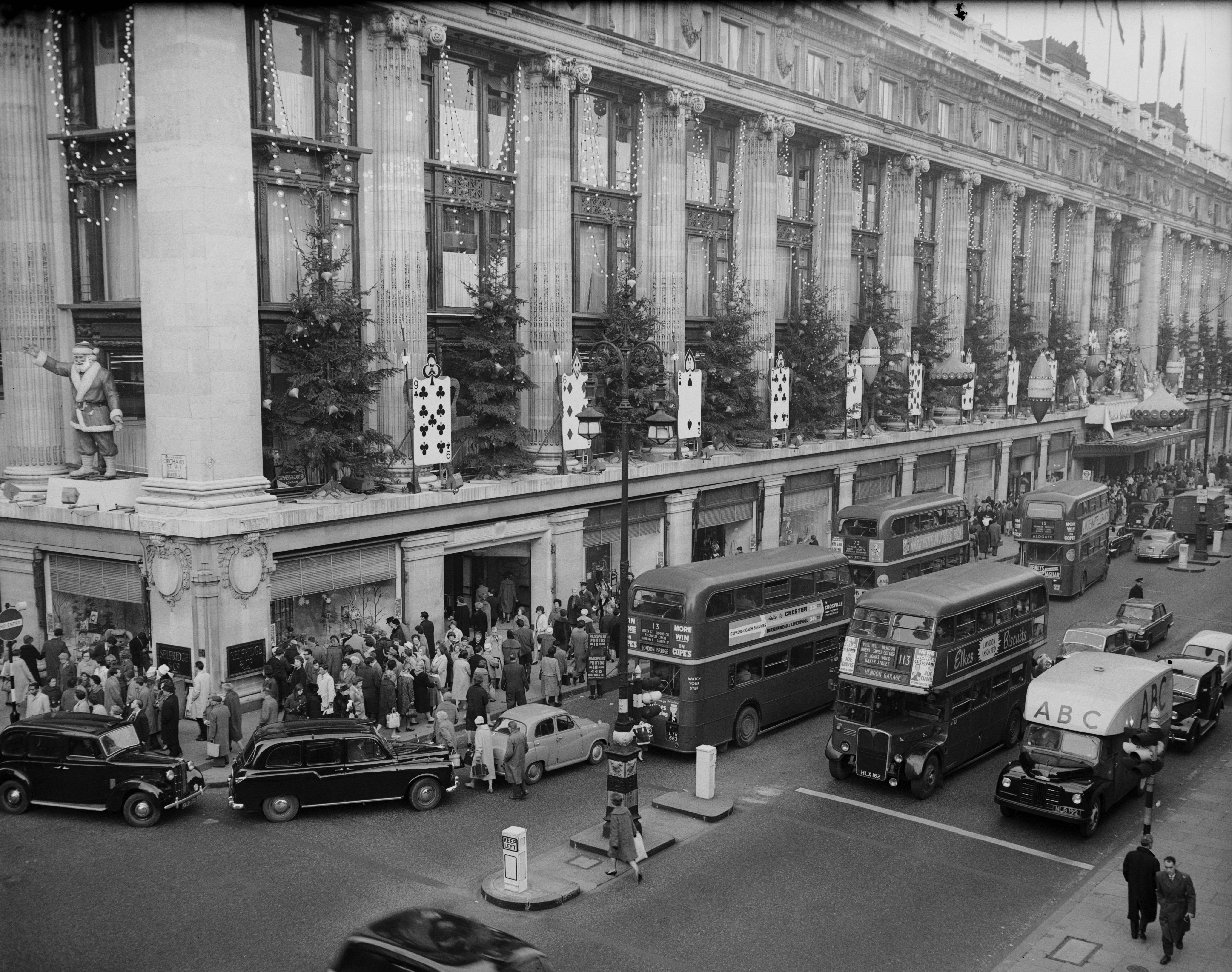 The women raided Selfridge's with hidden pockets in the their skirts and sleeves