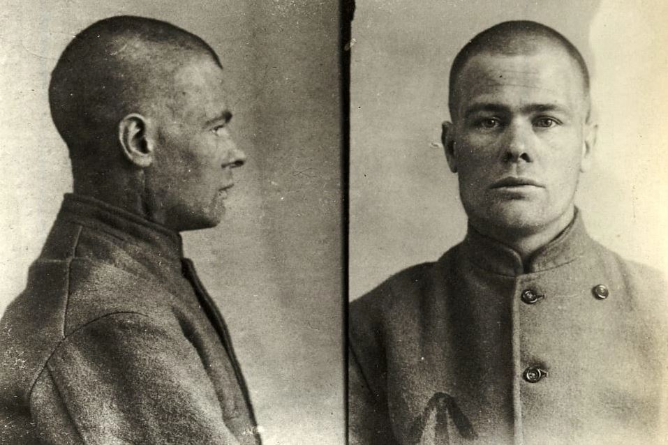 A Manchester Scuttler in a police mugshot