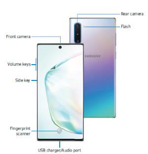 Galaxy Note 10 Layout