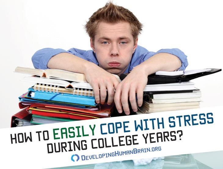 cope with stress during college