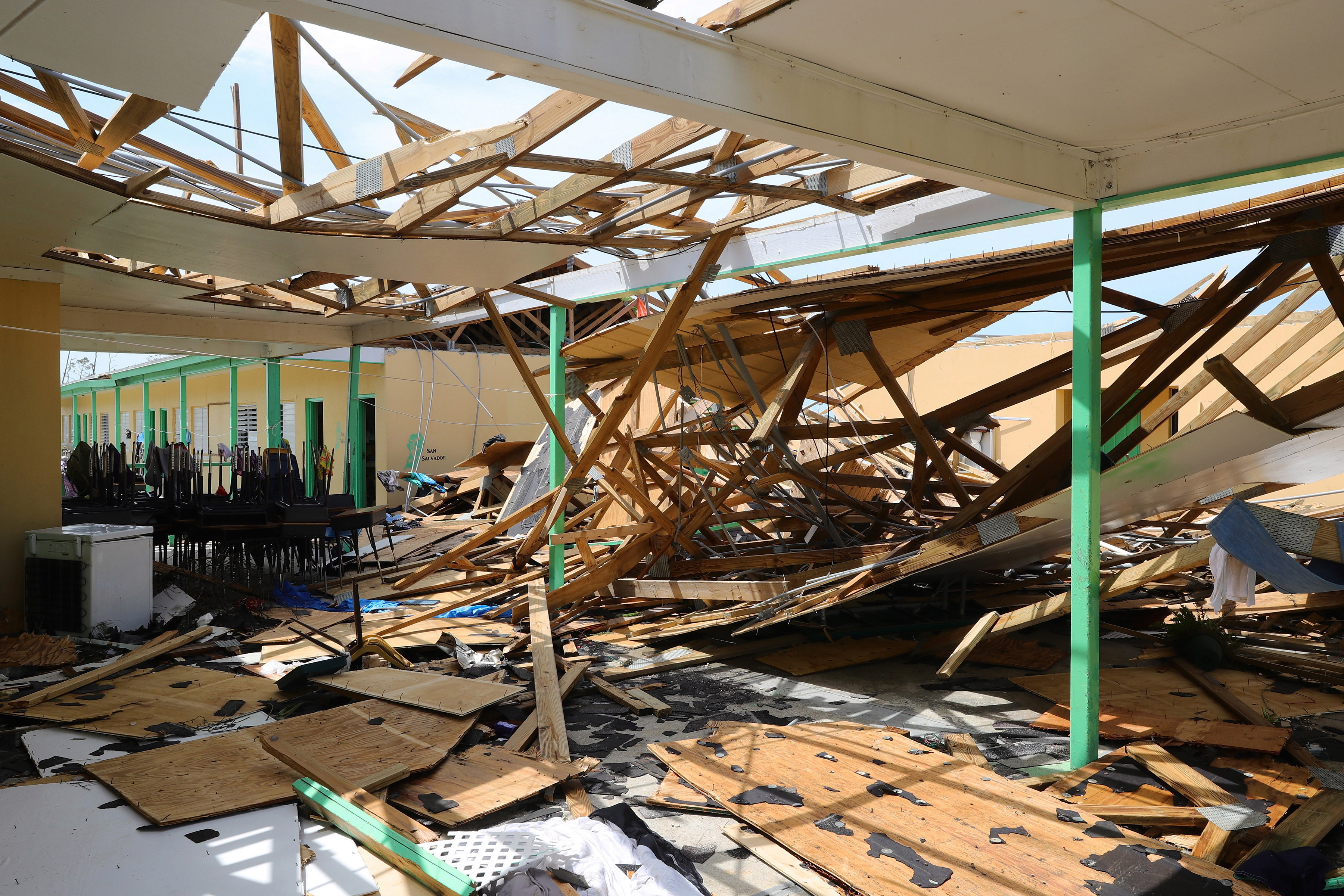 Hurricane Dorian tore buildings in the Bahamas apart with its 225mph winds