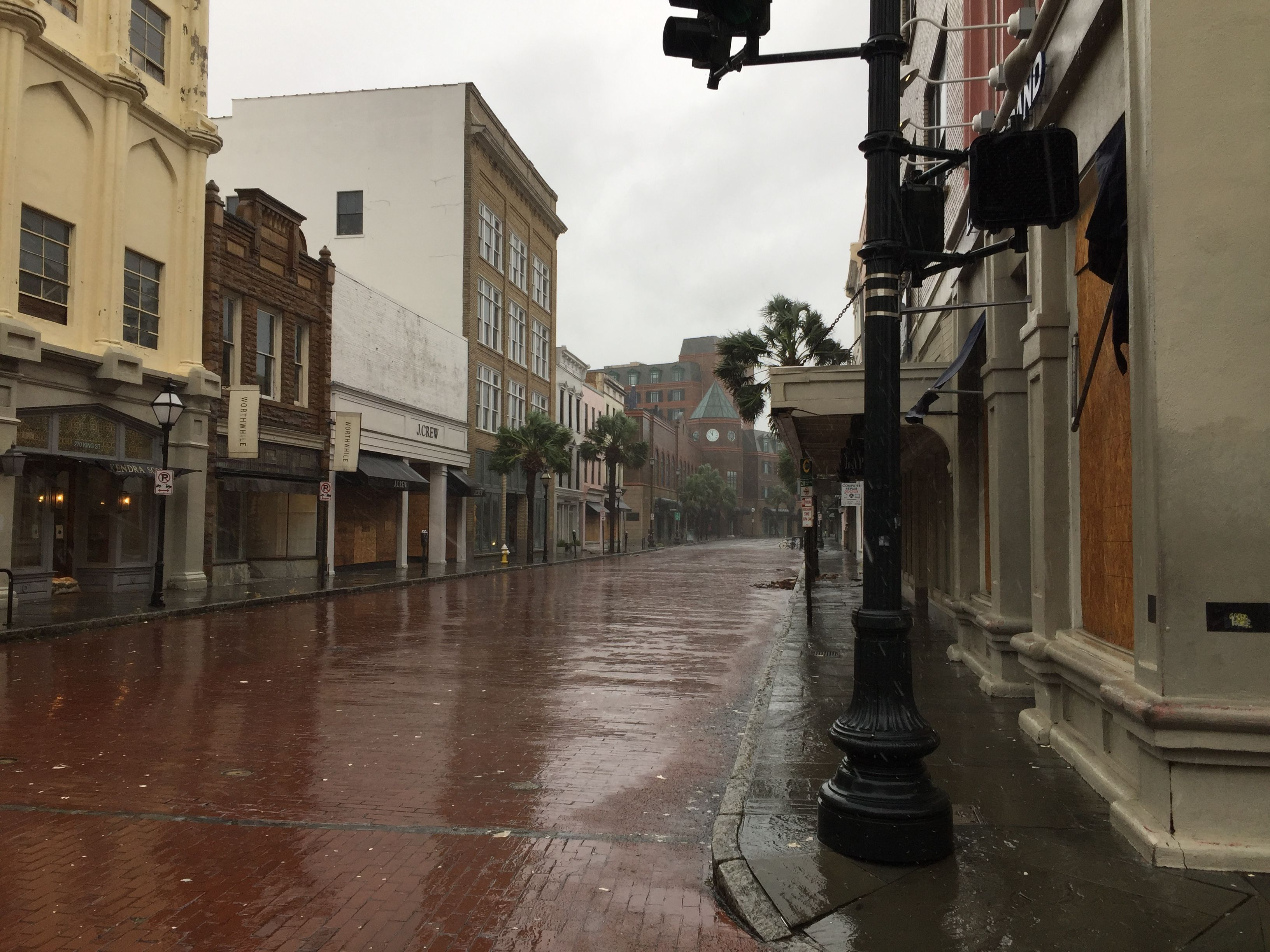 The streets of Charleston, South Carolina were like a ghost town yesterday