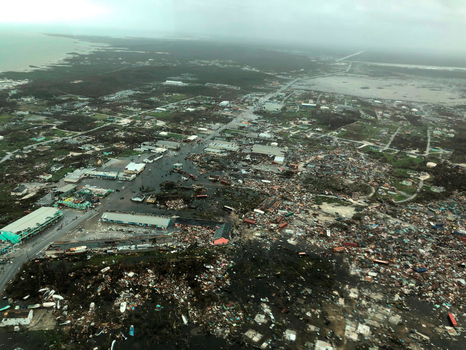 Homes have been destroyed by Hurricane Dorian