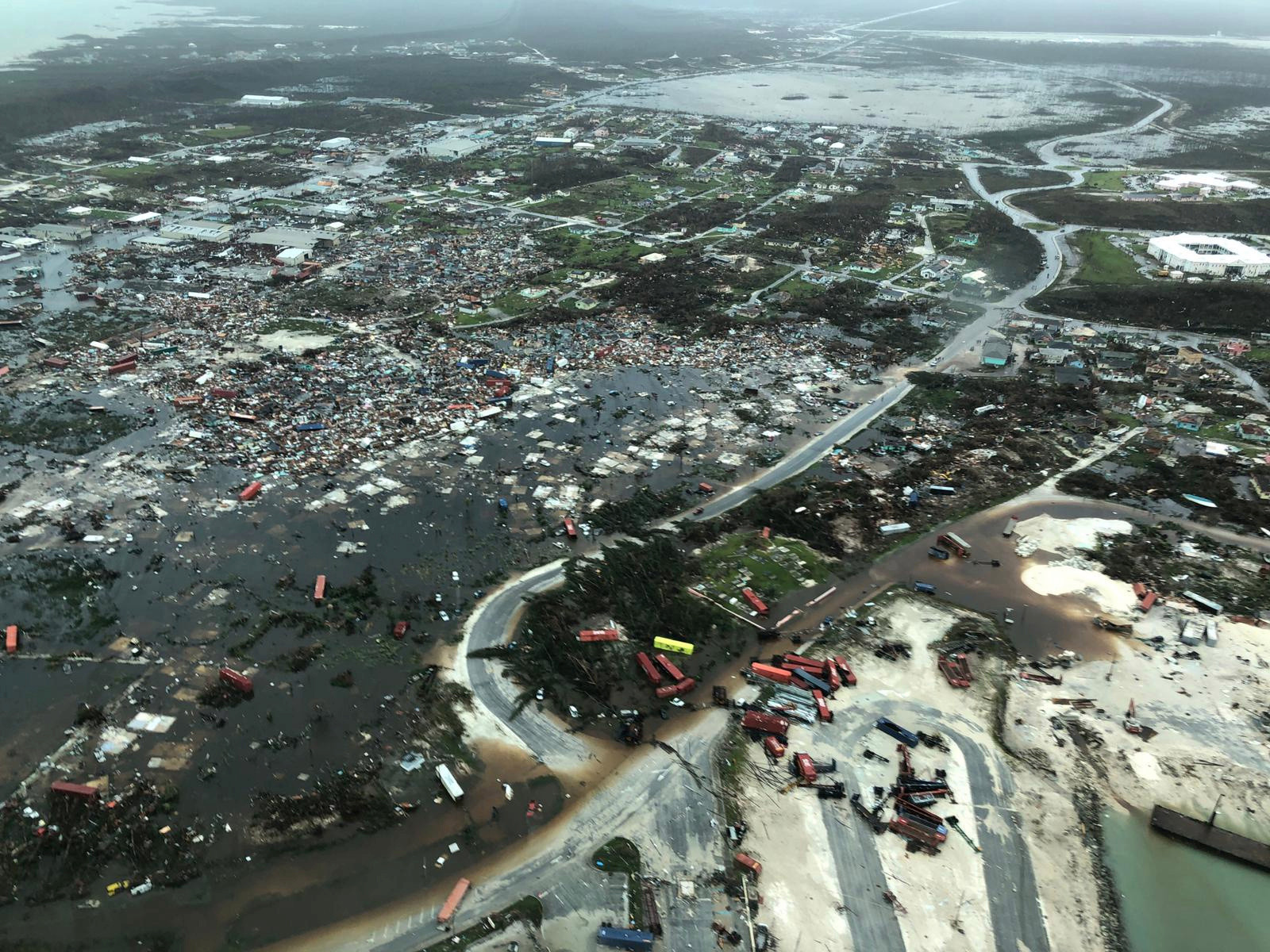 Aerial shots show the devastation caused to the Abaco Islands in the Bahamas
