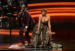ATLANTA, GEORGIA - SEPTEMBER 05: Rickey Smiley and LeToya Luckett-Walker onstage during 2019 Black Music Honors at Cobb Energy Performing Arts Centre on September 05, 2019 in Atlanta, Georgia. (Photo by Paras Griffin/Getty Images for Black Music Honors)