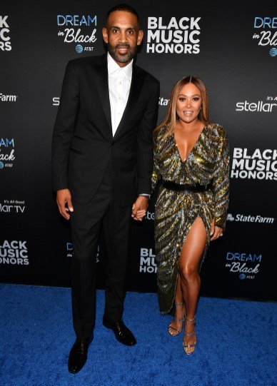 ATLANTA, GEORGIA - SEPTEMBER 05: Grant Hill and Tamia attend 2019 Black Music Honors at Cobb Energy Performing Arts Centre on September 05, 2019 in Atlanta, Georgia. (Photo by Paras Griffin/Getty Images for Black Music Honors)
