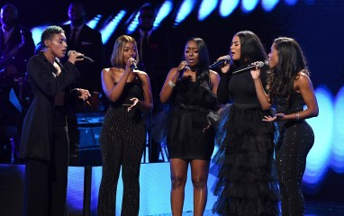 ATLANTA, GEORGIA - SEPTEMBER 05: Ashly Williams, Brienna DeVlugt, Kristal Lyndriette, Gabby Carreiro, and Shyann Roberts of June's Diary onstage during 2019 Black Music Honors at Cobb Energy Performing Arts Centre on September 05, 2019 in Atlanta, Georgia. (Photo by. Paras Griffin/Getty Images for Black Music Honors)