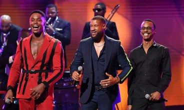 ATLANTA, GEORGIA - SEPTEMBER 05: Avery Wilson, Tony Terry and Tevin Campbell onstage during 2019 Black Music Honors at Cobb Energy Performing Arts Centre on September 05, 2019 in Atlanta, Georgia. (Photo by Paras Griffin/Getty Images for Black Music Honors)