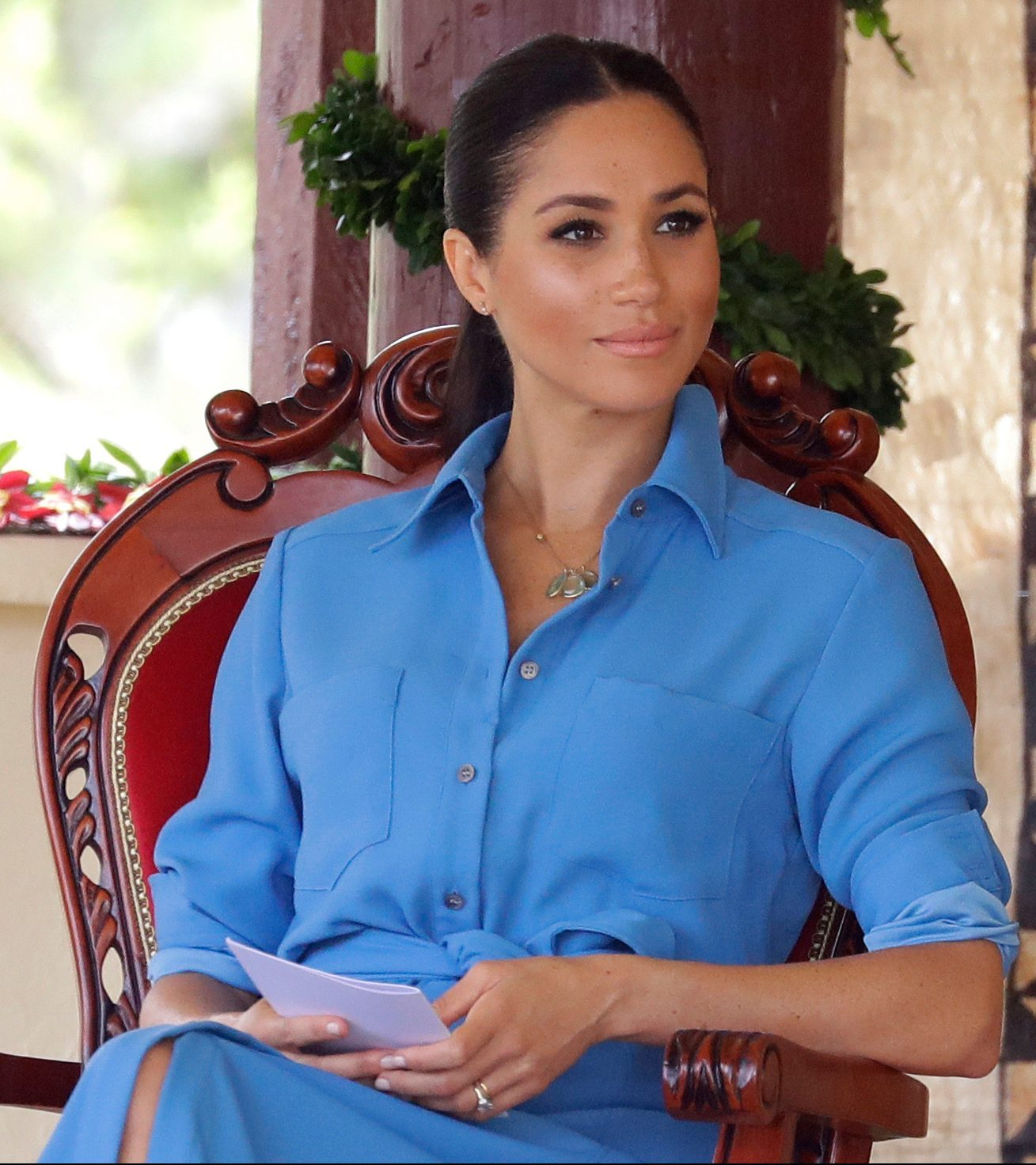 More than she bargained for? Meghan on a visit to Tonga last year