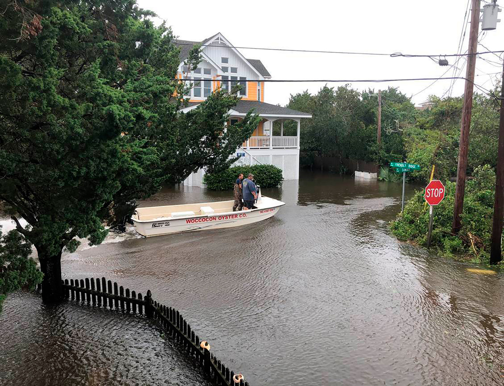 800 people have been left stranded on the North Carolina island of Ocracoke by Hurricane Dorian