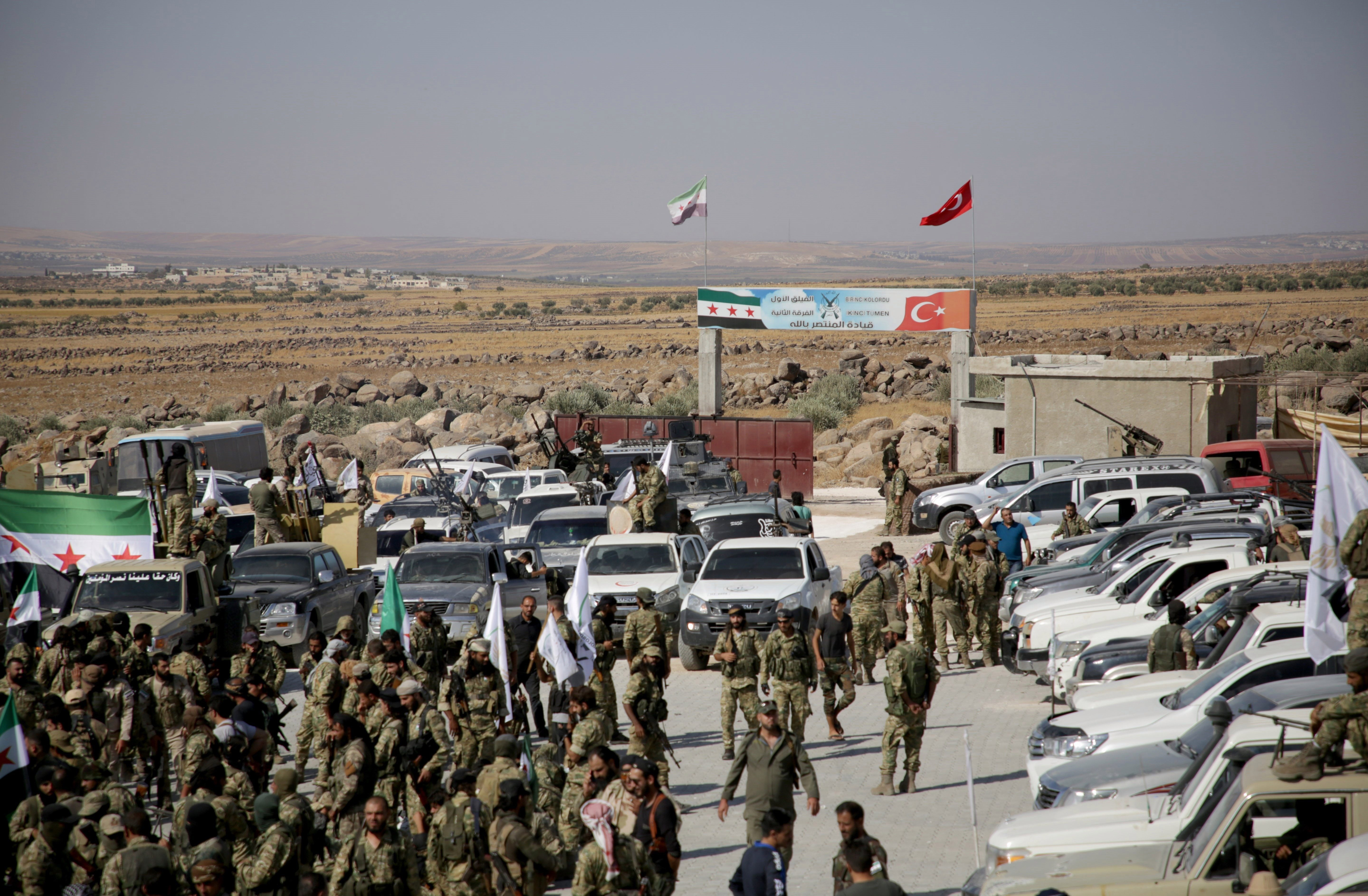 The Syrian National Army is a component of Syrian opposition forces to Assad, backing Turkey