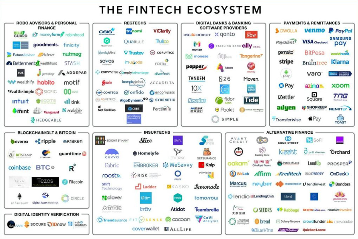 Fintech Ecosystem indographic