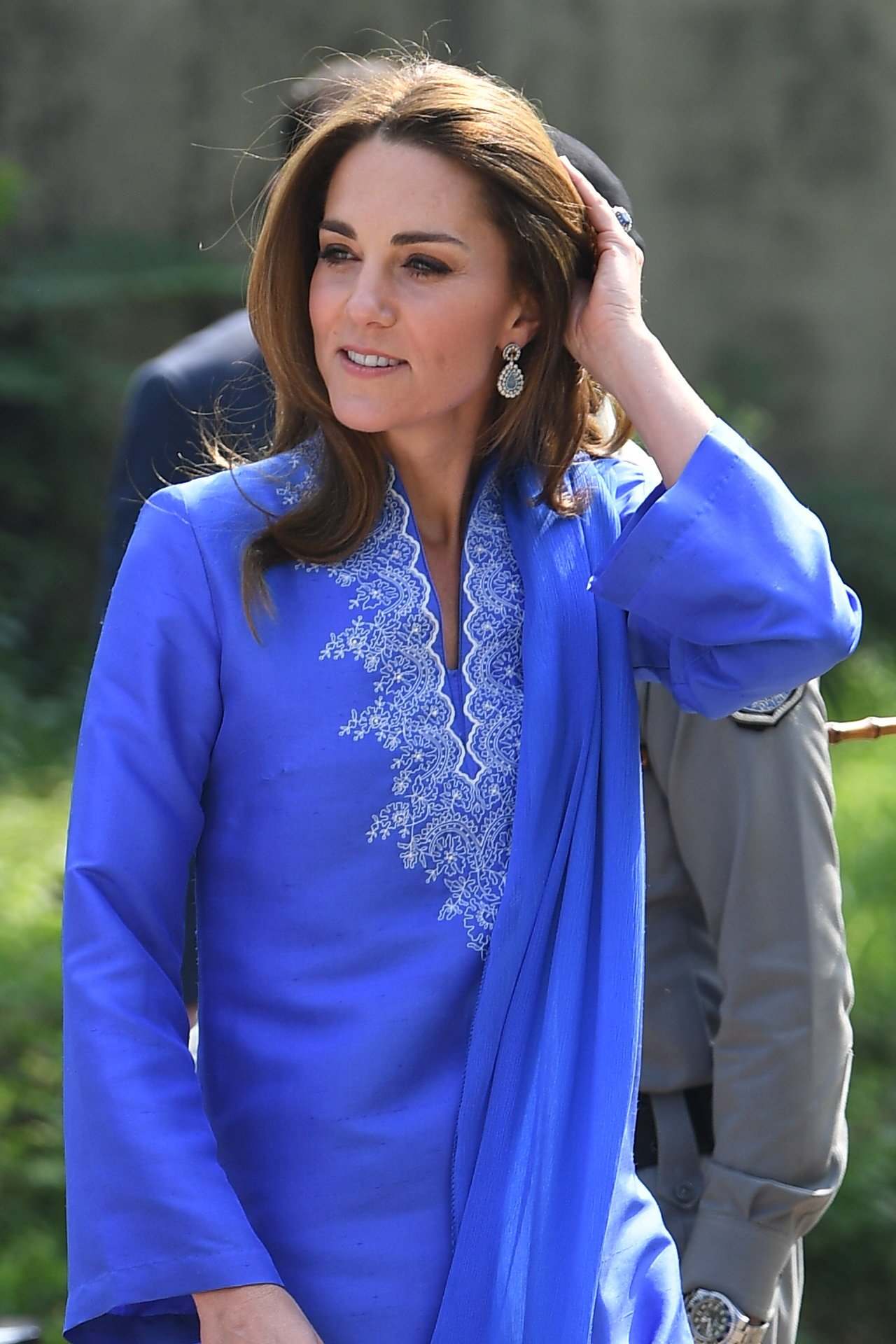 The Duchess of Cambridge wowed in a traditional blue kurta