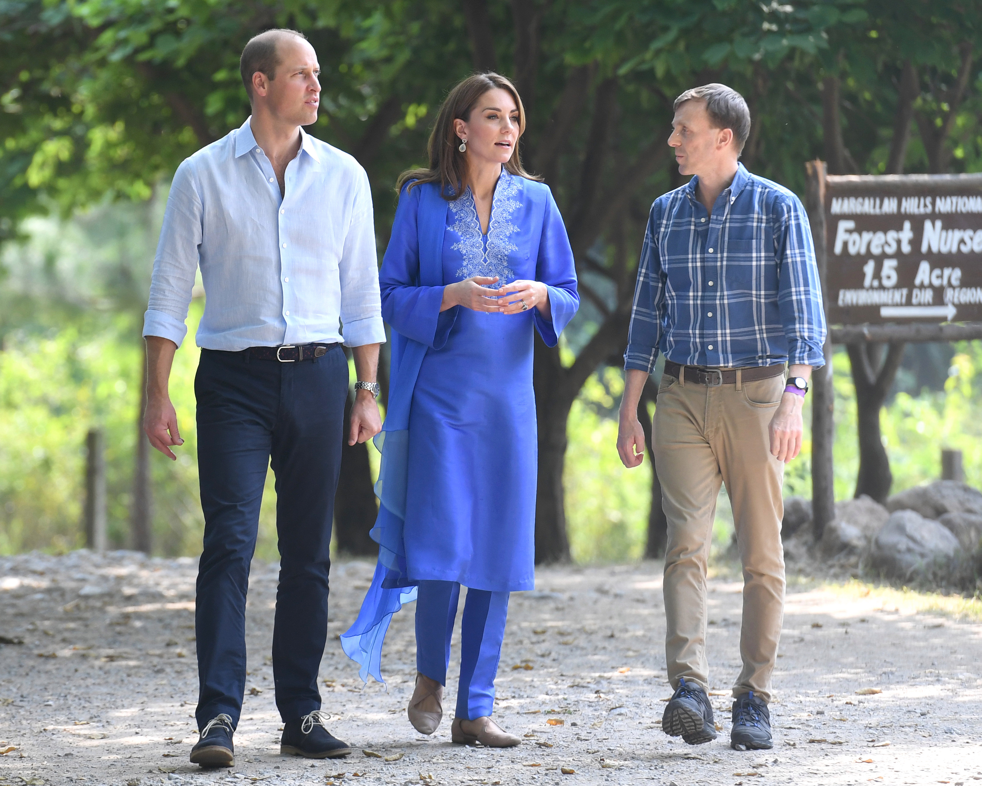 Kate and William are shown around the 12,605-hectare Pakistani park