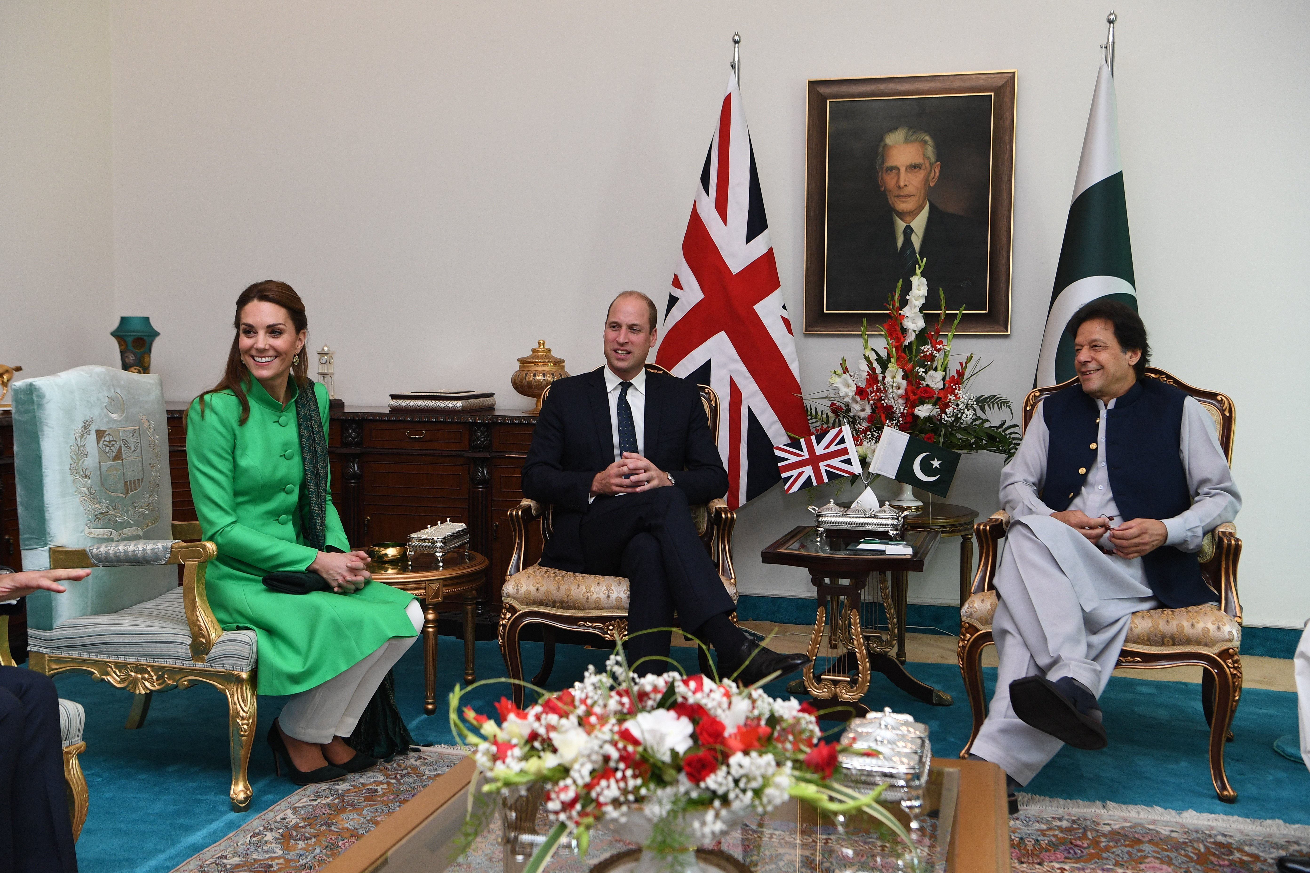 Kate and Wills later visited the Prime Minister of Pakistan Imran Khan in central Islamabad
