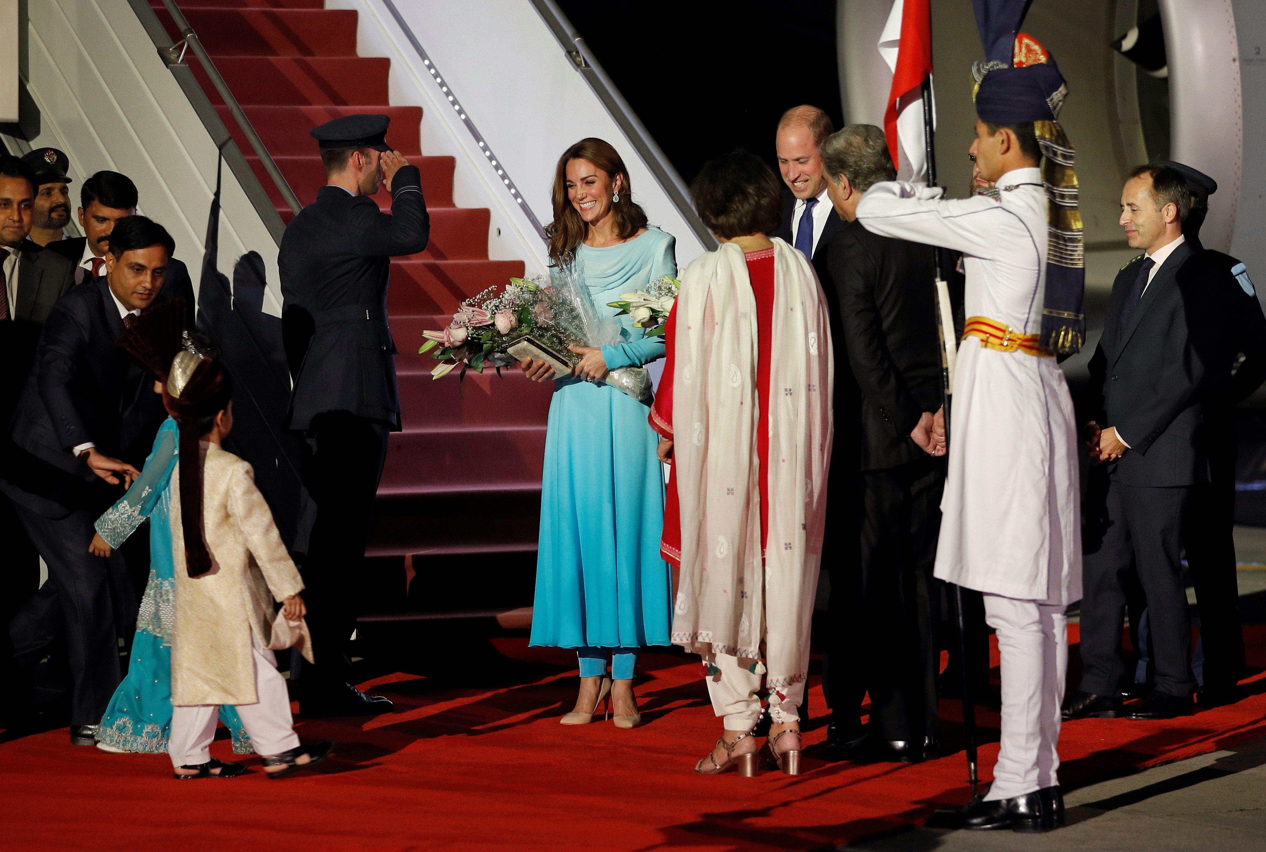 Their visit to the country is the first official one to be made by the royal family since 2006