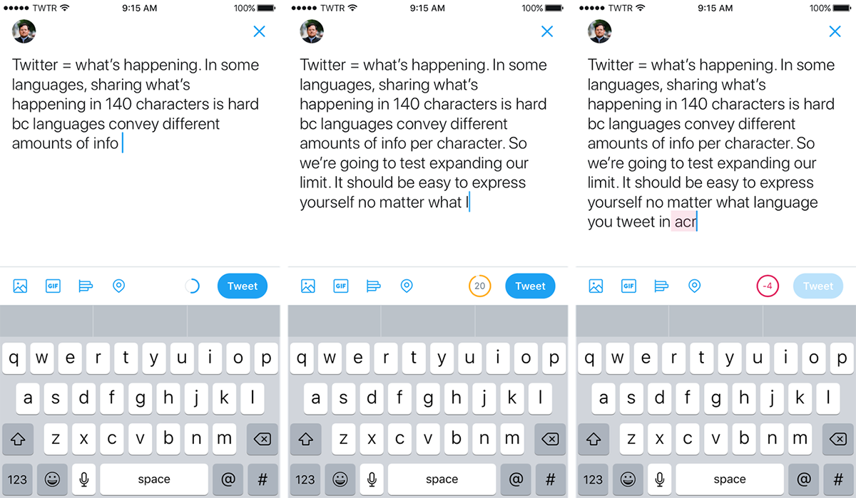 twitter expanded character limit