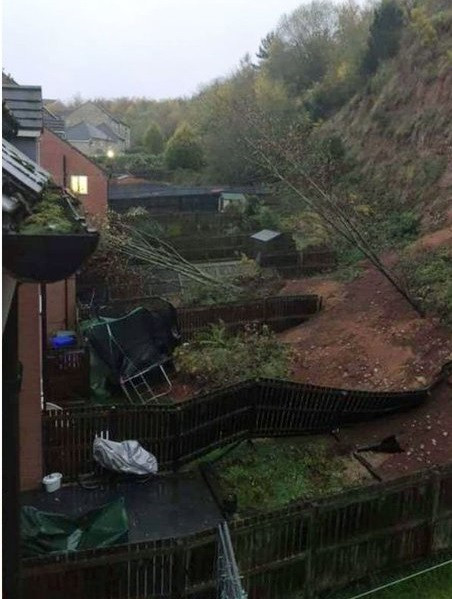UK flooding: Residents have had to leave their homes following a mudslide