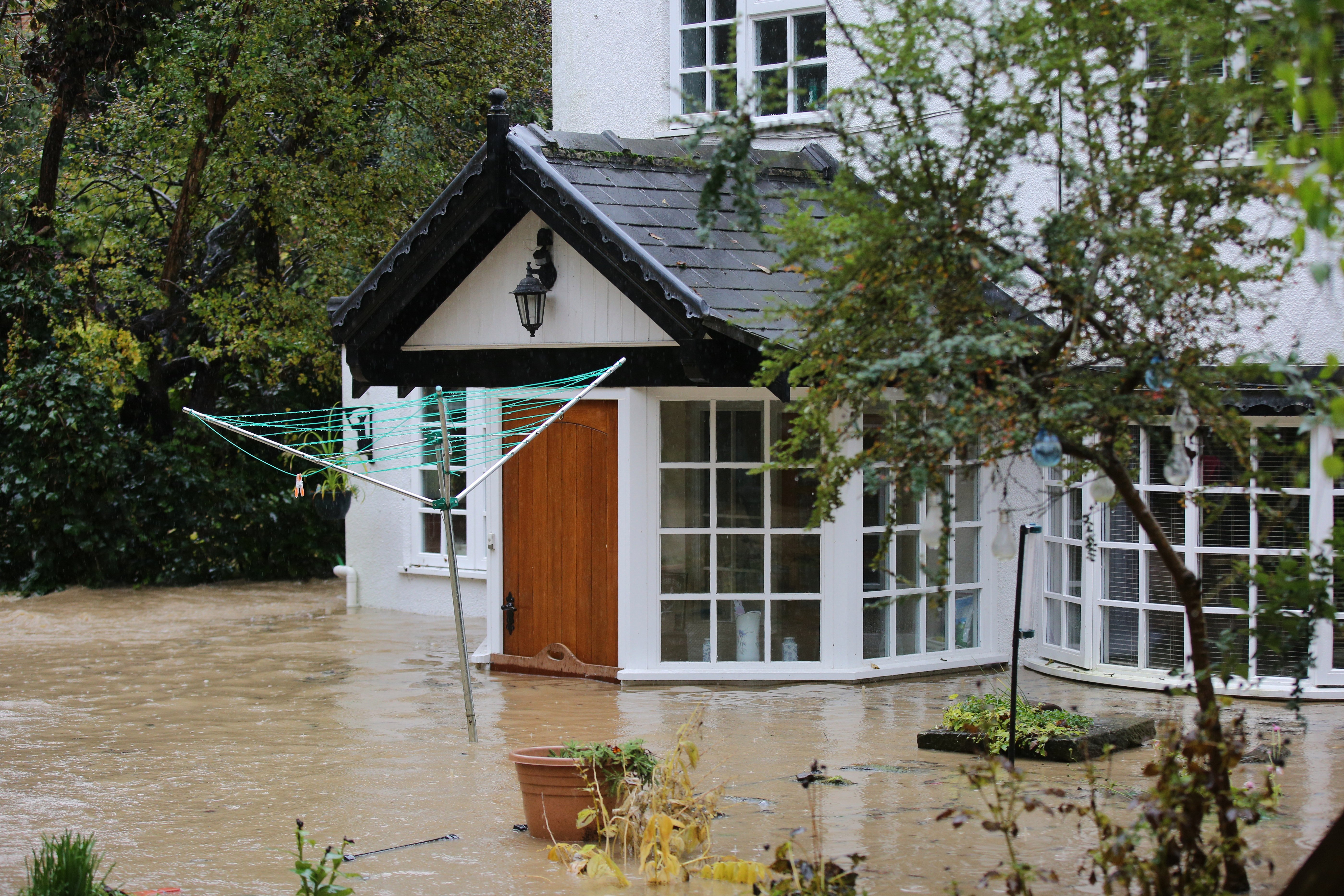 A red flood alert was put in place as a number of homes were flooded out in Whiston