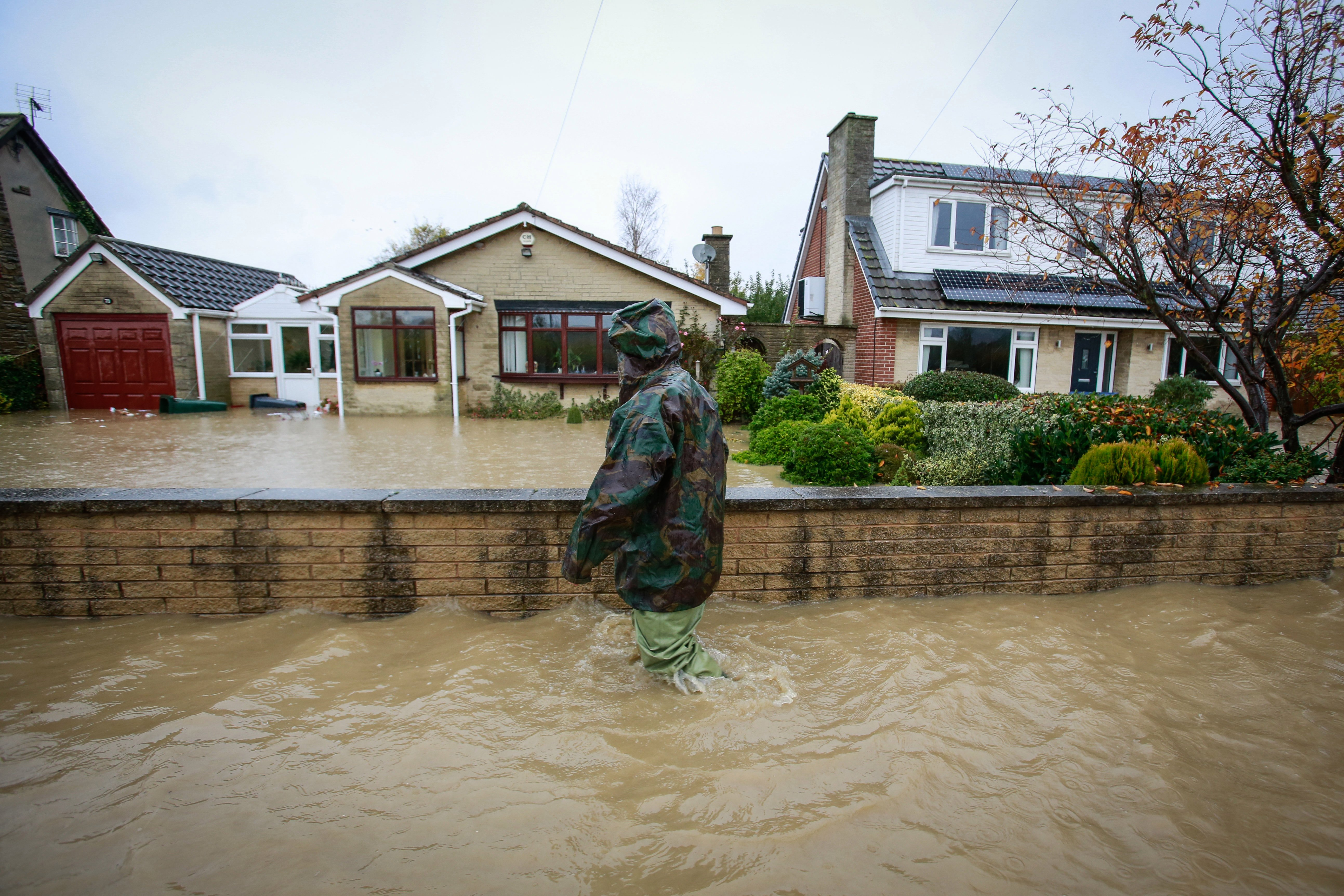 A number of homes were damaged by the flooding in Whiston near Sheffield