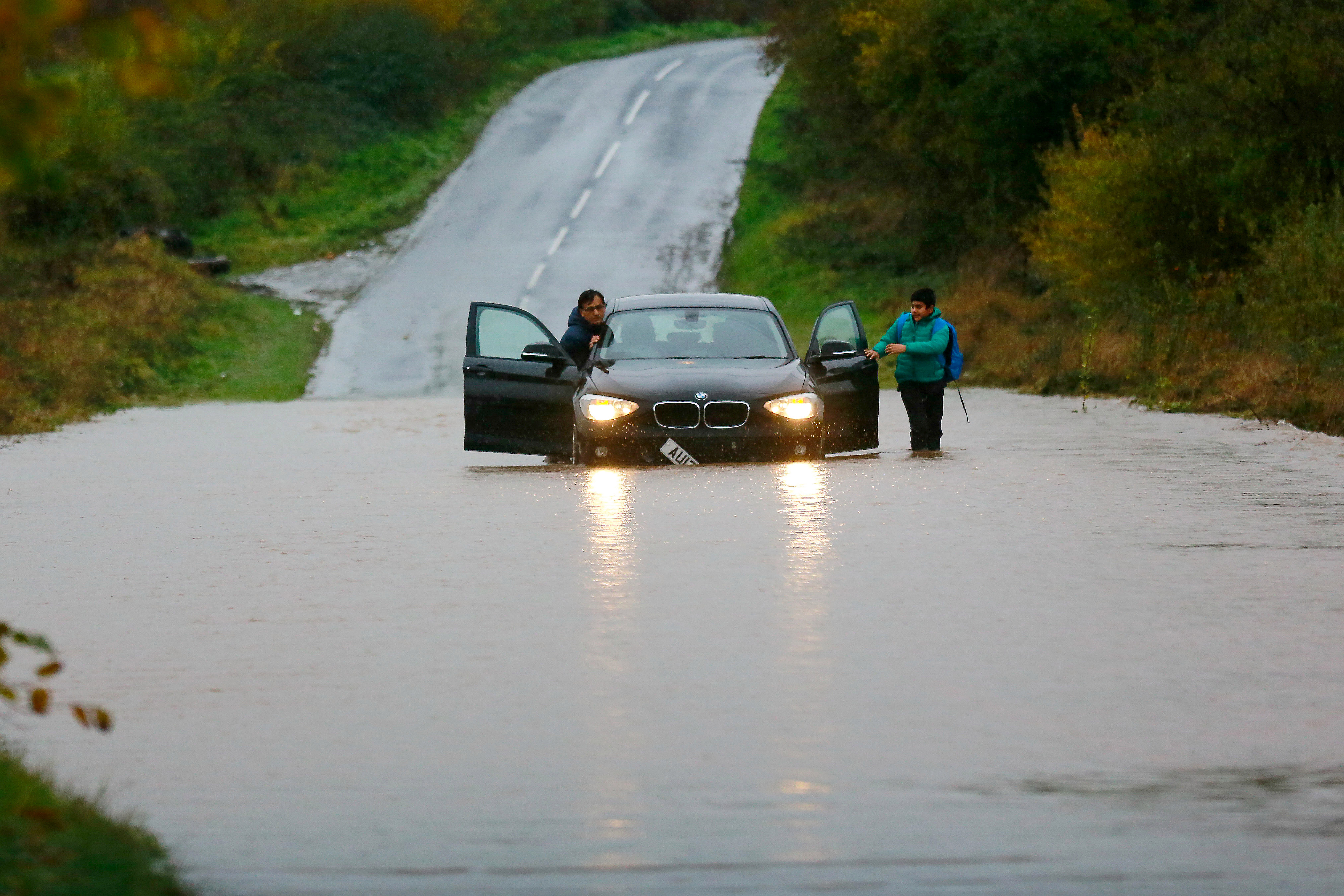 UK flooding: The UK has been lashed with biblical downpours, causing travel chaos