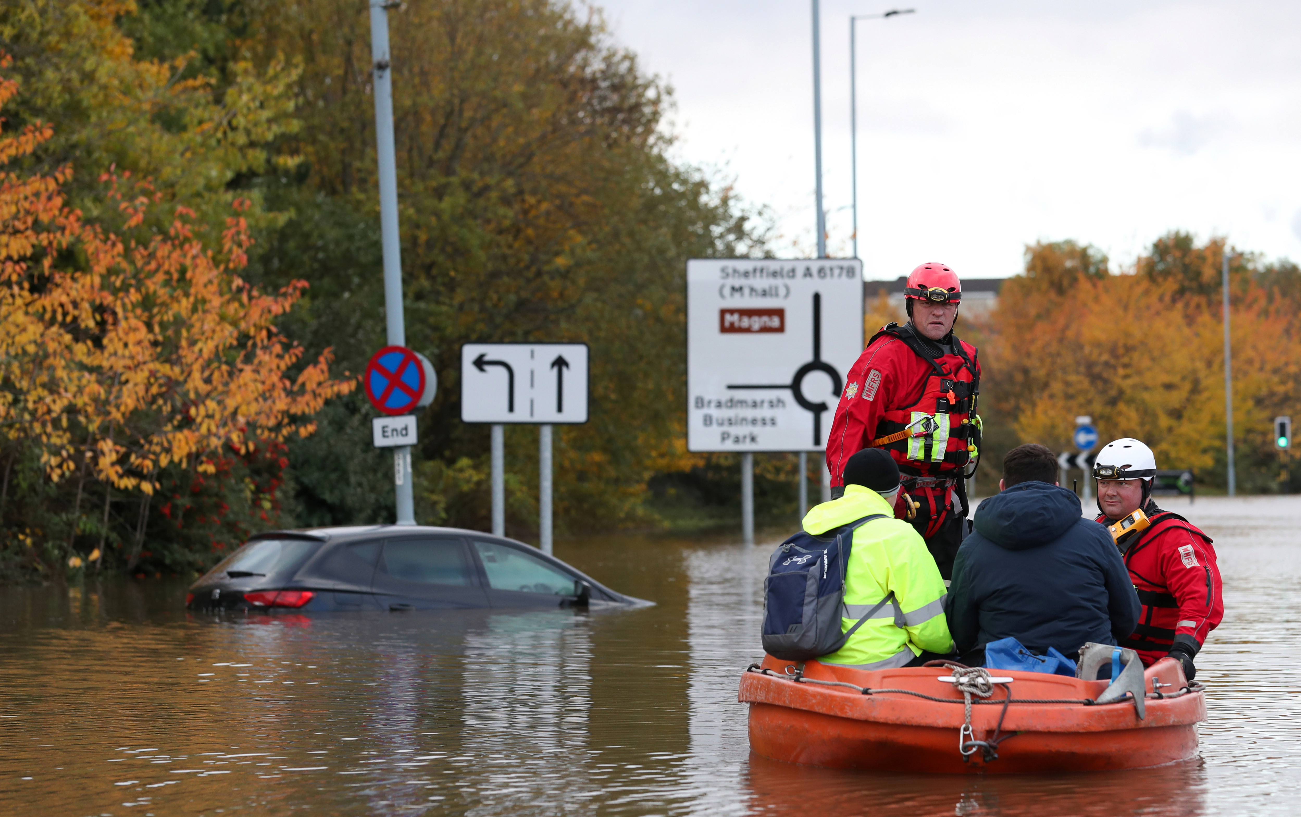 Rescuers have been working overnight and into today to evacuate locals from flooded areas