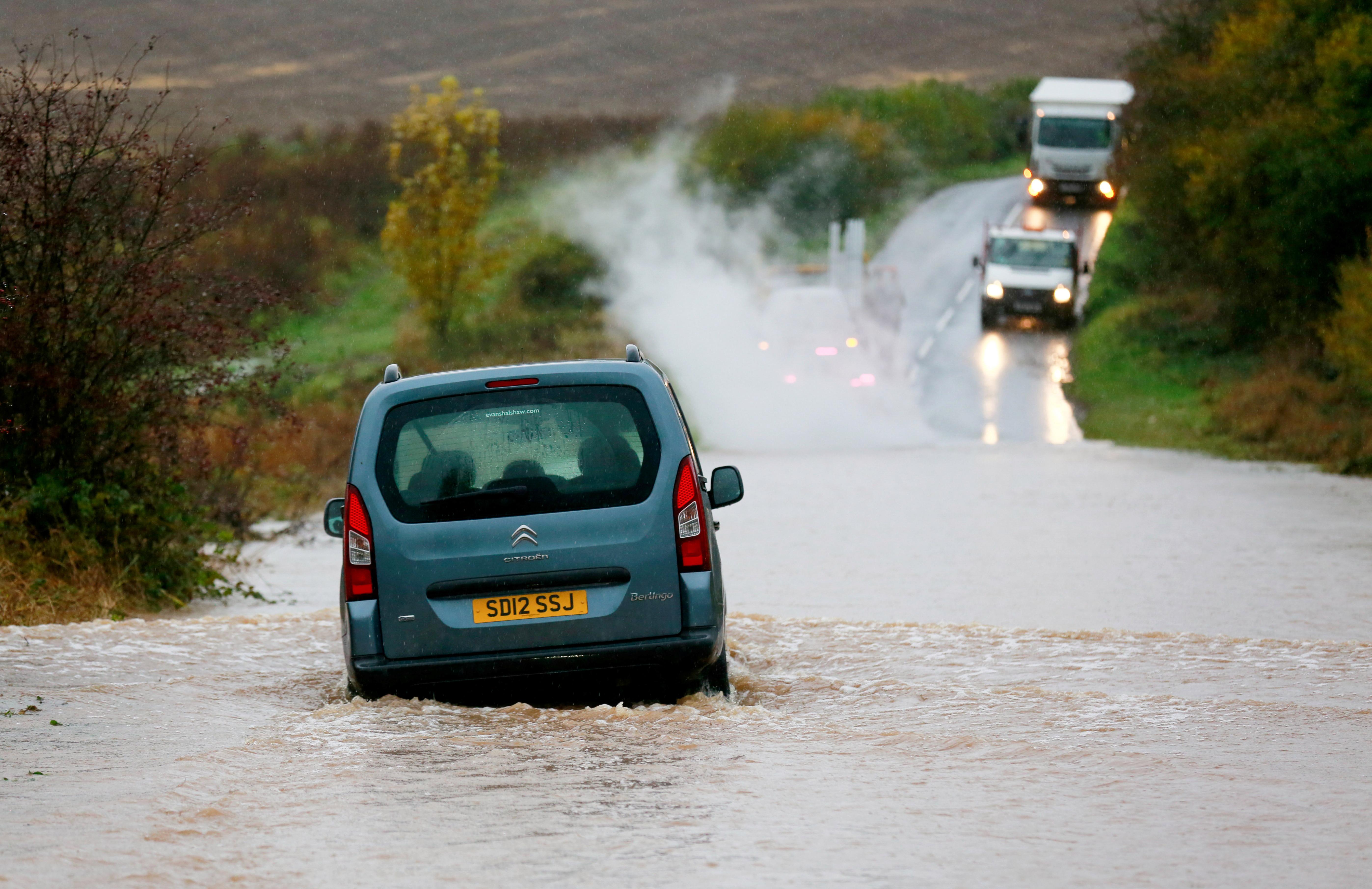 UK flooding: The rain has caused travel chaos across England overnight