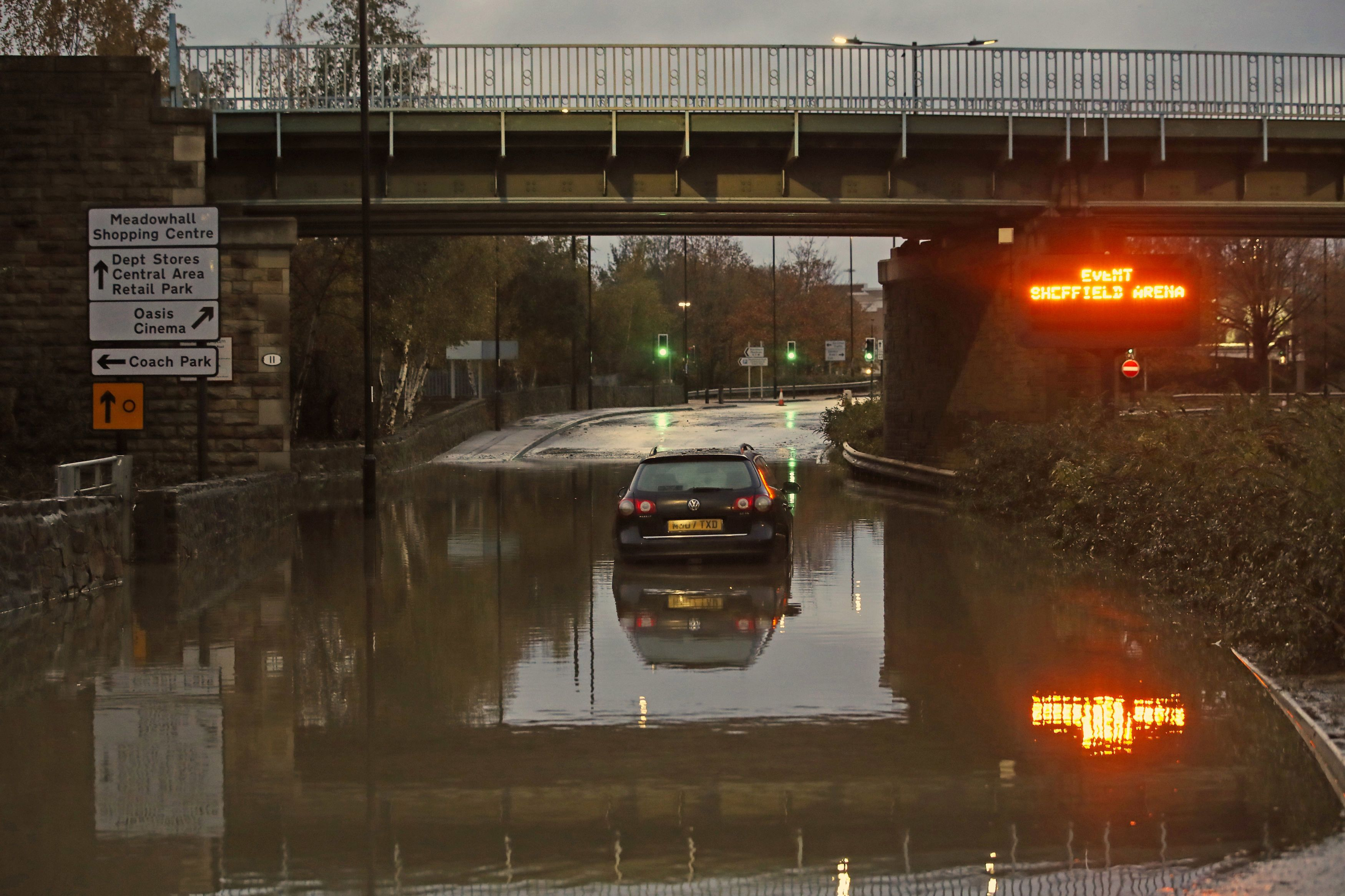 Northern England was hit worst by the rain last night
