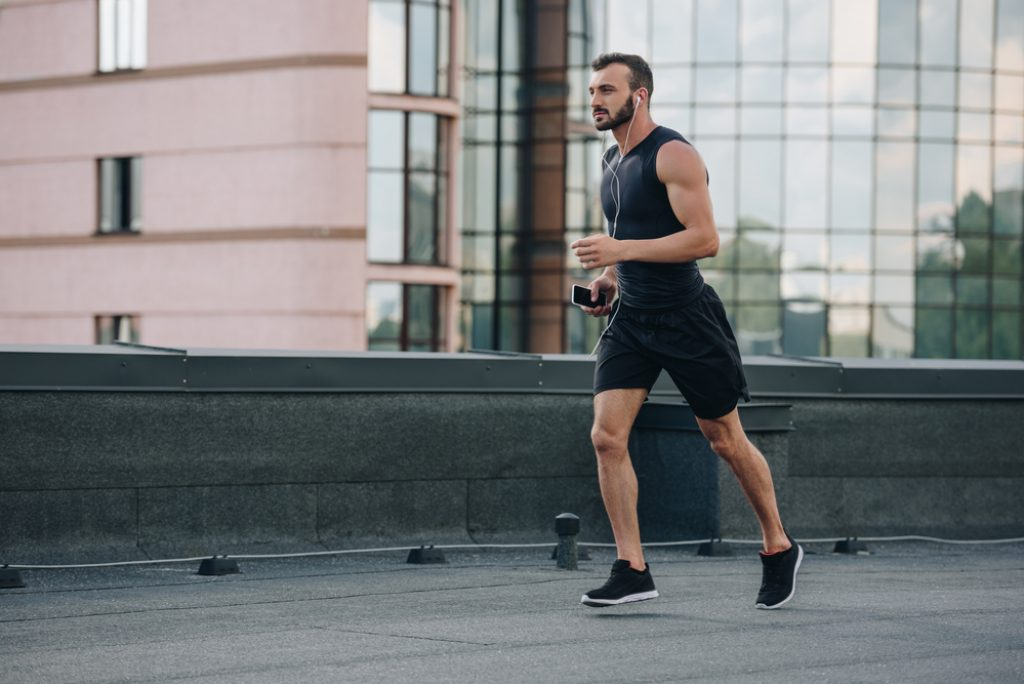 carry a device while running