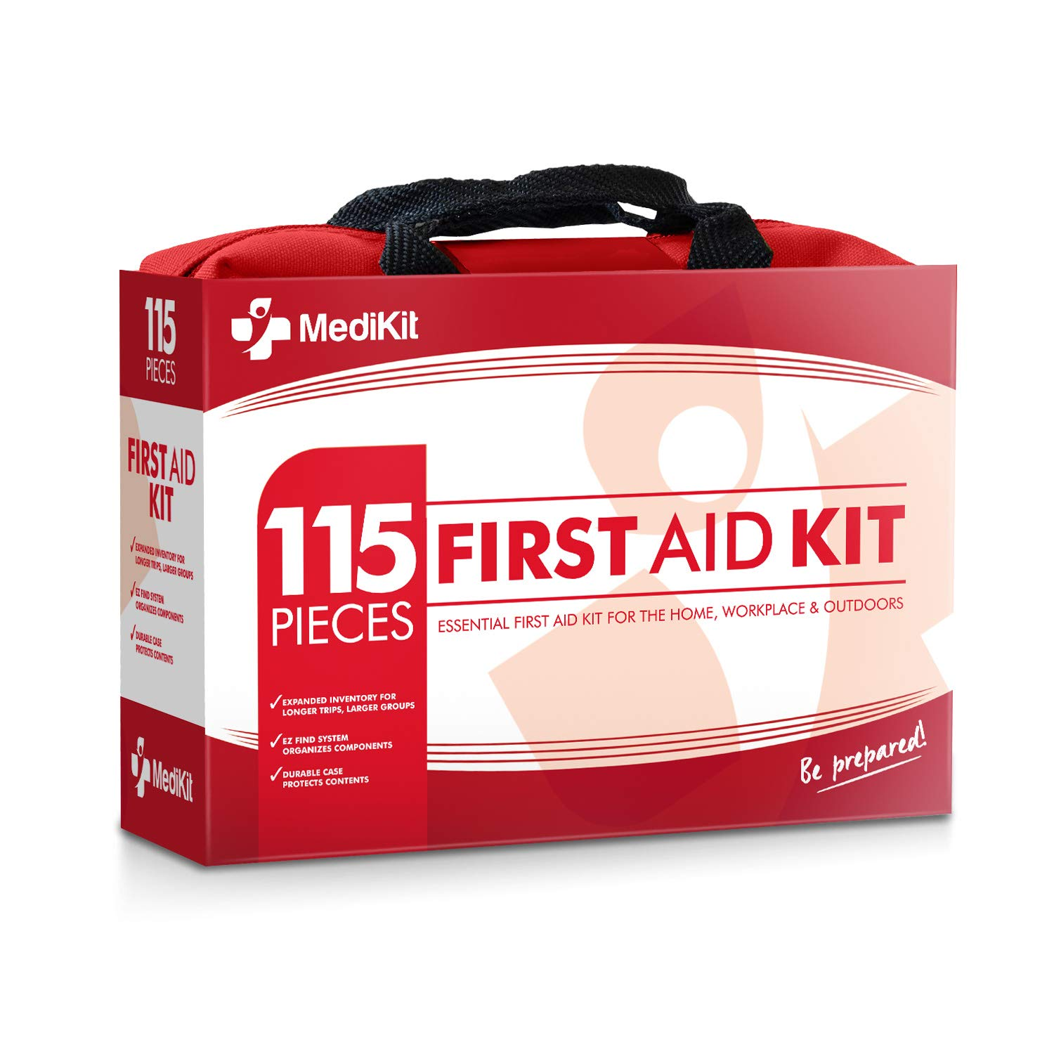 MediKit-Deluxe-First-Aid-Kit-115-Items-The-Most-Essential-First-Aid-Supplies-for-Home-Sports-Travel-Camping-Office-and-The-Workplace---Red-