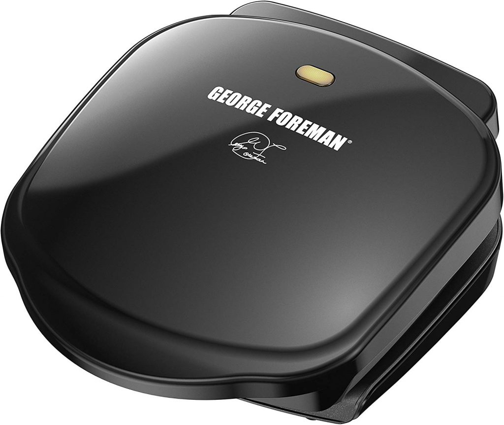 George Foreman 2-Serving Classic Plate Electric Indoor Grill and Panini Press