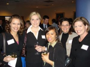 Angela Martindale at networking event