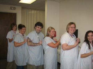 Angela Martindale with other nursing students